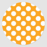 White Polka Dots Any Colour change Round Sticker