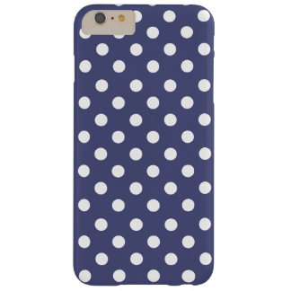 White polka dots in blue barely there iPhone 6 plus case