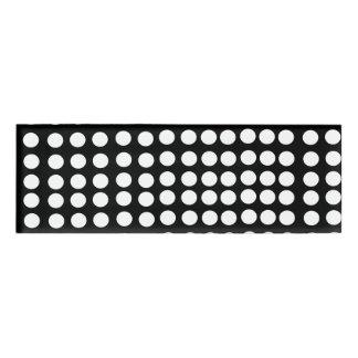 White Polka Dots Name Tag