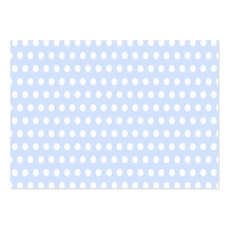 White Polka Dots on Baby Blue Pack Of Chubby Business Cards