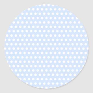 White Polka Dots on Baby Blue Round Sticker