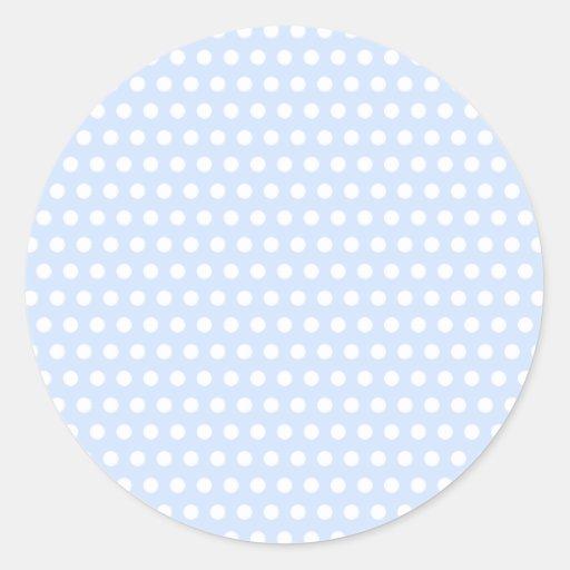 White Polka Dots on Baby Blue Sticker