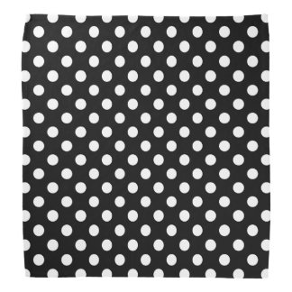 White Polka Dots on Black Background Do-rag