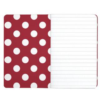 White Polka Dots on Crimson Red Journal