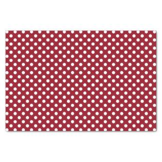 White Polka Dots on Crimson Red Tissue Paper