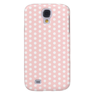 White Polka Dots on Pale Pink Galaxy S4 Case