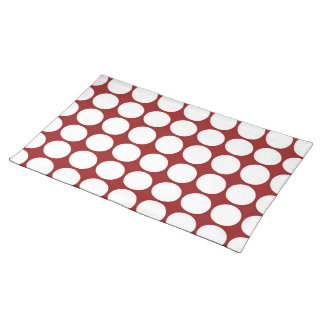 White Polka Dots on Red Placemat