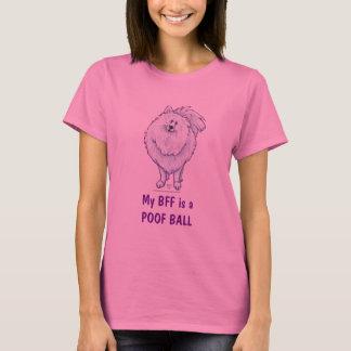 White Pomeranian BFF Poofball Light T-Shirt