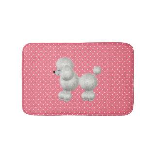 White Poodle Bath Mat Bath Mats