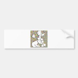White Poodle Bumper Sticker