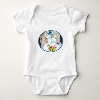 White Poodle Tea Party Baby Bodysuit