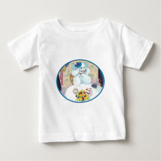 White Poodle Tea Party Baby T-Shirt