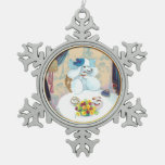 White Poodle Tea Party Christmas Gift Ornaments