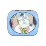 White Poodle Tea Party Jelly Belly Tin