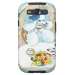 White Poodle Tea Party n Cupcakes Samsung Galaxy S3 Covers