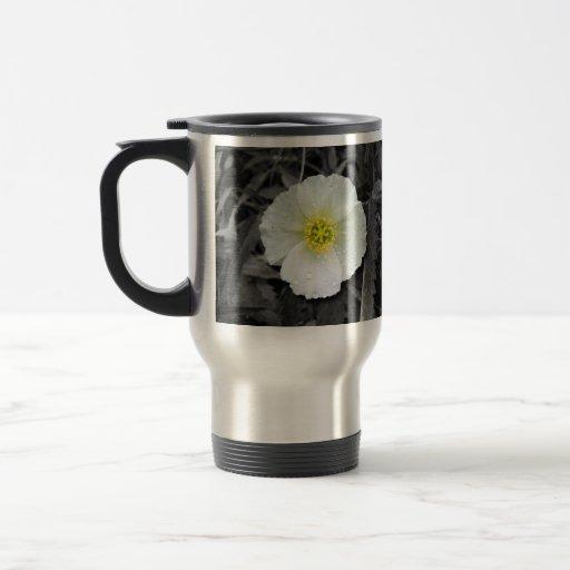 White Poppy After the Rain Coffee Mug