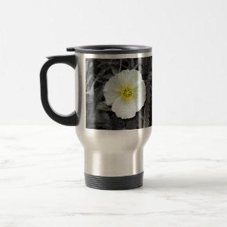 White Poppy After the Rain Stainless Steel Travel Mug