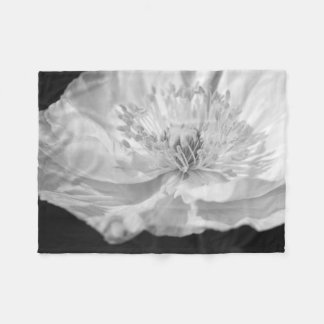 White Poppy Fleece Blanket
