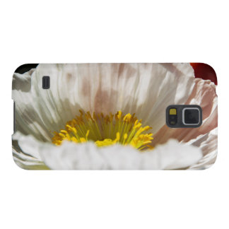 White Poppy Phone Case Case For Galaxy S5
