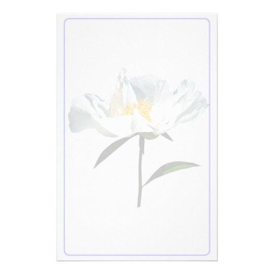 White Poppy Profile Custom Stationery