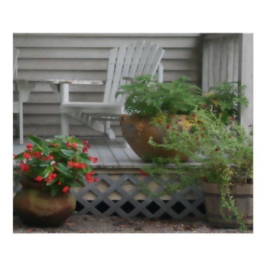 White Porch Poster