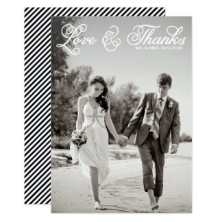 Shop Zazzle's selection of wedding thank you cards for your special day!
