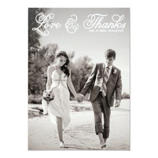 White Pretty Script Wedding Thank You Flat Card 13 Cm X 18 Cm Invitation Card