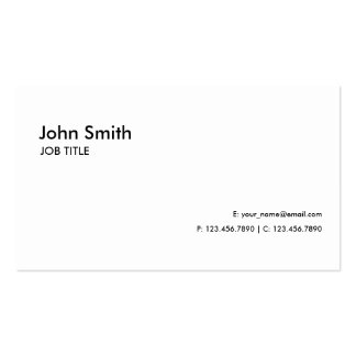 White Professional Elegant Modern Plain Simple Pack Of Standard Business Cards