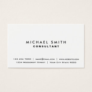 Business cards business card printing zazzle uk white professional plain elegant modern simple business card colourmoves Choice Image