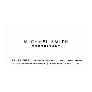 White Professional Plain Elegant Modern Simple Pack Of Standard Business Cards
