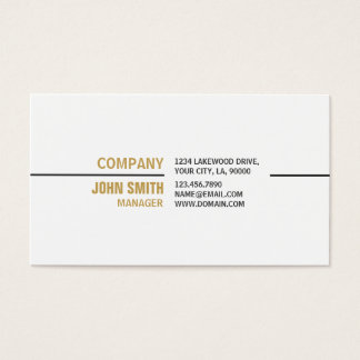 White Professional Plain Elegant Real Estate Business Card