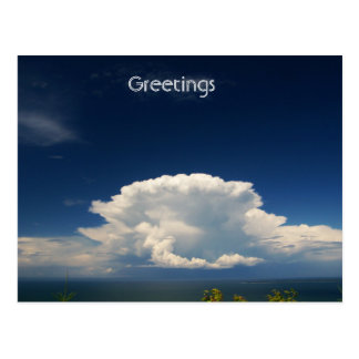 White Puffy Cloud Photo Postcard