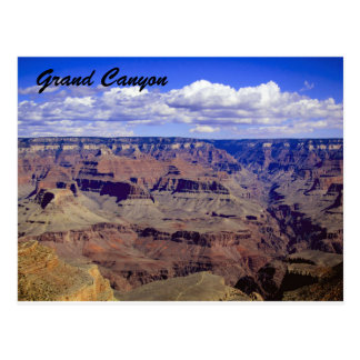 White puffy clouds hanging over the Grand Canyon Postcard