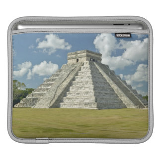 White puffy clouds over the Mayan Pyramid iPad Sleeve