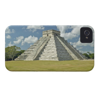White puffy clouds over the Mayan Pyramid iPhone 4 Cover