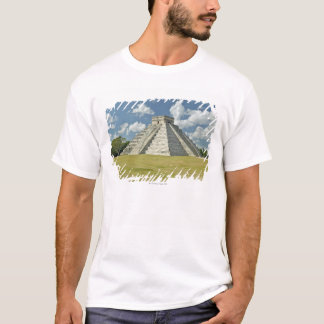 White puffy clouds over the Mayan Pyramid T-Shirt