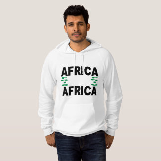 White Pullover with hood AFRICA