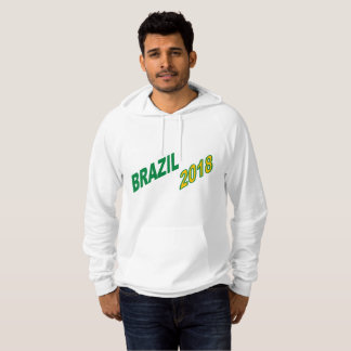 White Pullover with hood BRAZIL 2018