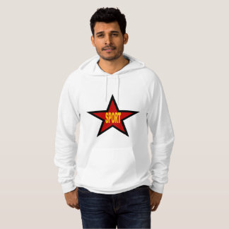 White Pullover with hood SPORT GERMANY