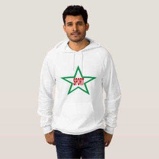 White Pullover with hood SPORT ITALIA
