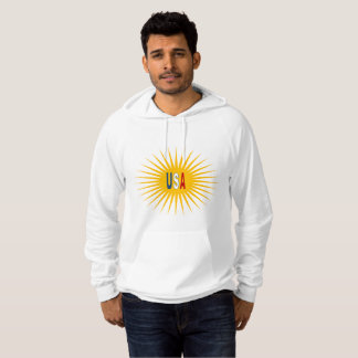White Pullover with hood the USA