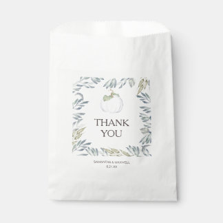 White Pumpkin Candy Favor Bags