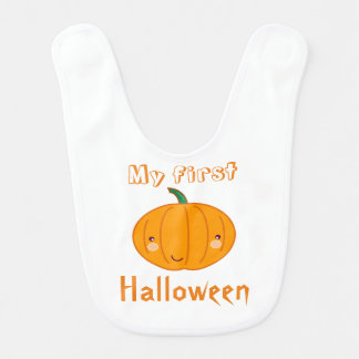 White Pumpkin Patch Bib - Dino Pictures