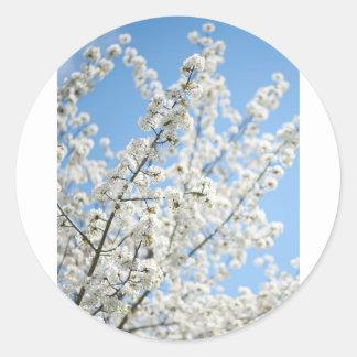 White Purity Round Sticker