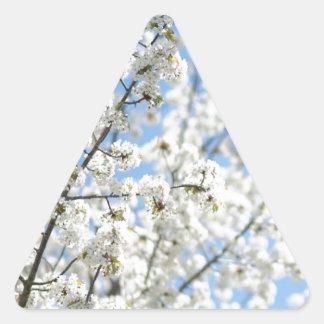 White Purity Triangle Sticker
