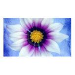 White & Purple Daisy on Blue Background Customised
