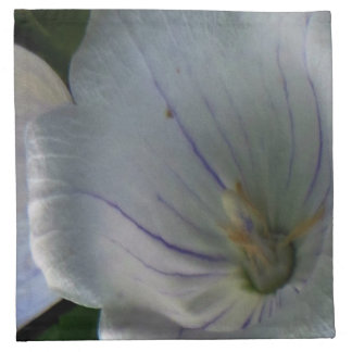 White Purple Flora Napkin