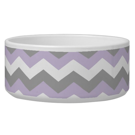 White, Purple Grey Chevron Zigzag