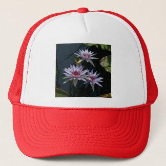 White Purple Lotus Waterlilies Hat