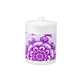 White & Purple Mandala Pattern